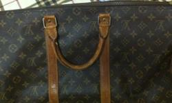 Vintage keepall Louis Vuitton with dustbag Used