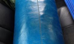 Clearing store sale. Used Punching bag(blue) + unfilled