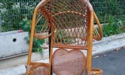 Used Rattan Haging Bucket seat for sale.Cash and Carry