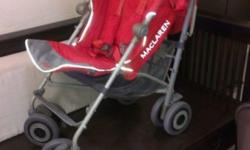 1.Used red color Maclaren Techno Xt stroller for sale.
