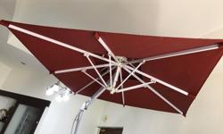 Heavy Duty Side Post Outdoor Patio Umbrella 2x2m. Ideal