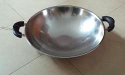 Used Stainless Steel Wok for Sale, Size of Wok: