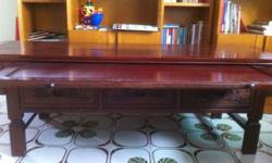 Used teak wood tv console