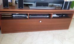 great condition wooden tv console, only wear and tear