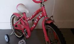 Valo girl's bike With adjustable and removable training