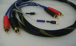 Van Damme (UK) Phono stereo interconnect cables with
