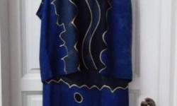 Versatile Batik Top with Matching Wrap Skirt (Sarong).