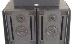 POWERFUL BASS OF 300 WATTS DENON FLOOR SPEAKERS BUILT
