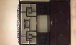 Rosewood tall display cabinet chinese style in very