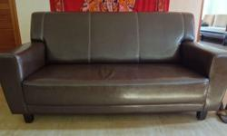 Very good condition (9/10) dark brown 3-seater sofa.