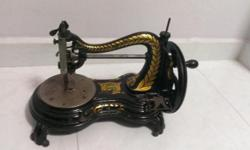 Rare 1870 Serpentine Sewing Machine I present to you