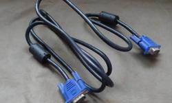 For sale: VGA cable, blue (used) - Length: 1.5m - 1.8m