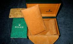 Original and authentic vintage 90s watch box for Rolex