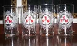 You are looking at 4 Vintage F&N Glasses. Beautiful as