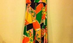 Vintage maxi halter dress with back zipper Dress