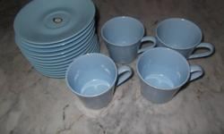 Set of 12 vintage melamine saucer and cups.   Brand new
