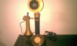 Vintage Candlestick Telephone, Working fine. Here we