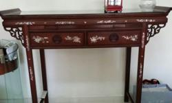 Selling a vintage rosewood altar table in good