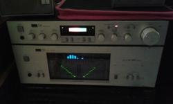 SOLID STATE VINTAGE SANSUI PRE-AMP AND POWER-AMP,
