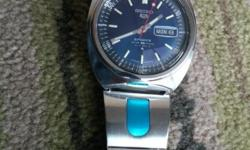 SEIKO5 SPORTS WATER 70 RESIST 21 JEWELS JAPAN 6020S.