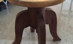 Vintage solid wood stool Selling @ $15 Self Collection