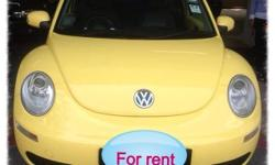Yellow VW Beetle 1.6A for rent. (Available after mid