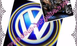 2pcs Volkswagen VW Logo Magnetic Wireless Car Door
