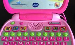 Vtech-tote-n-go kids, pink laptop. Great for learning,