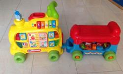 1) vtech alphabet train : 9/10 condition $85 2) Avent