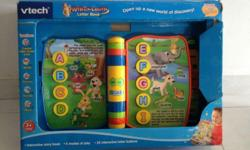 vtech Write & Learn Letter Book. A nice teaching aid to