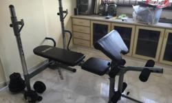Used Weight Bench Comes with Leg Curl Attachment,