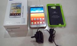 White Samsung Galaxy Note 1 16GB Phone is in perfect