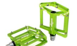 Wellgo B185 Platform Pedal - Lime Green S$85 (For
