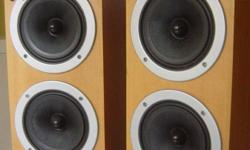 Wharfedale Pacific Pi 30 floor-stand speakers. With