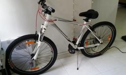 Greetings, I am selling my White GIANT mountain bicycle