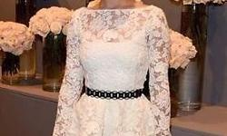 White lace dress with lining size s m l