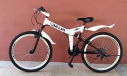 "Foldable, front n rear suspension, 26"" all for an"