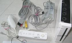 Wii console full set - preowned, clean condition and