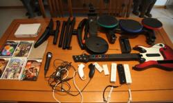 Used Nintento Wii Console (good condition) with lots of