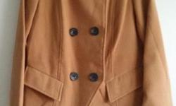 Camel colour mixed wool winter coat. Worn 1-2 times.