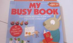 Wipe clean Travel busy book for tots lots of activity