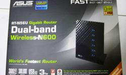 used Asus Dual Band Router RT-N56U Gigabit Router