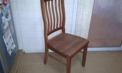 Wood dining chair: cm 50 x 43 x 97 Base: cm 50 x 45 x