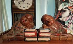 Wooden Baby Dolls Bookend Holder Display (Set of 2) -