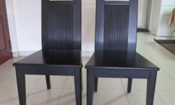 good quality wooden chairs, dark brown colour,smooth