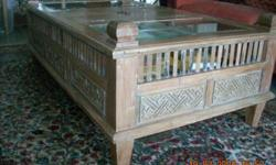 Wooden Coffee Table ; Antique - Original from Indonesia
