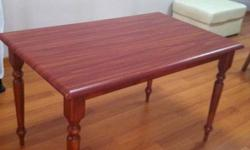 Wooden dining table ( 122 cm x 76 cm ) for sale at