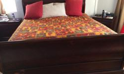 Wooden king bed purchased from the US Comes with