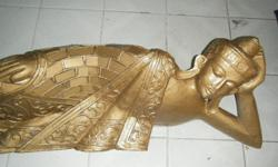 Wooden Sleeping buddha 110cm.interested to view can