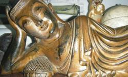 Wooden Sleeping buddha 60cm in length.Fine